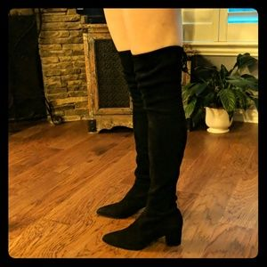 Stuart Weitzman Over the Knee Black Suede Boots